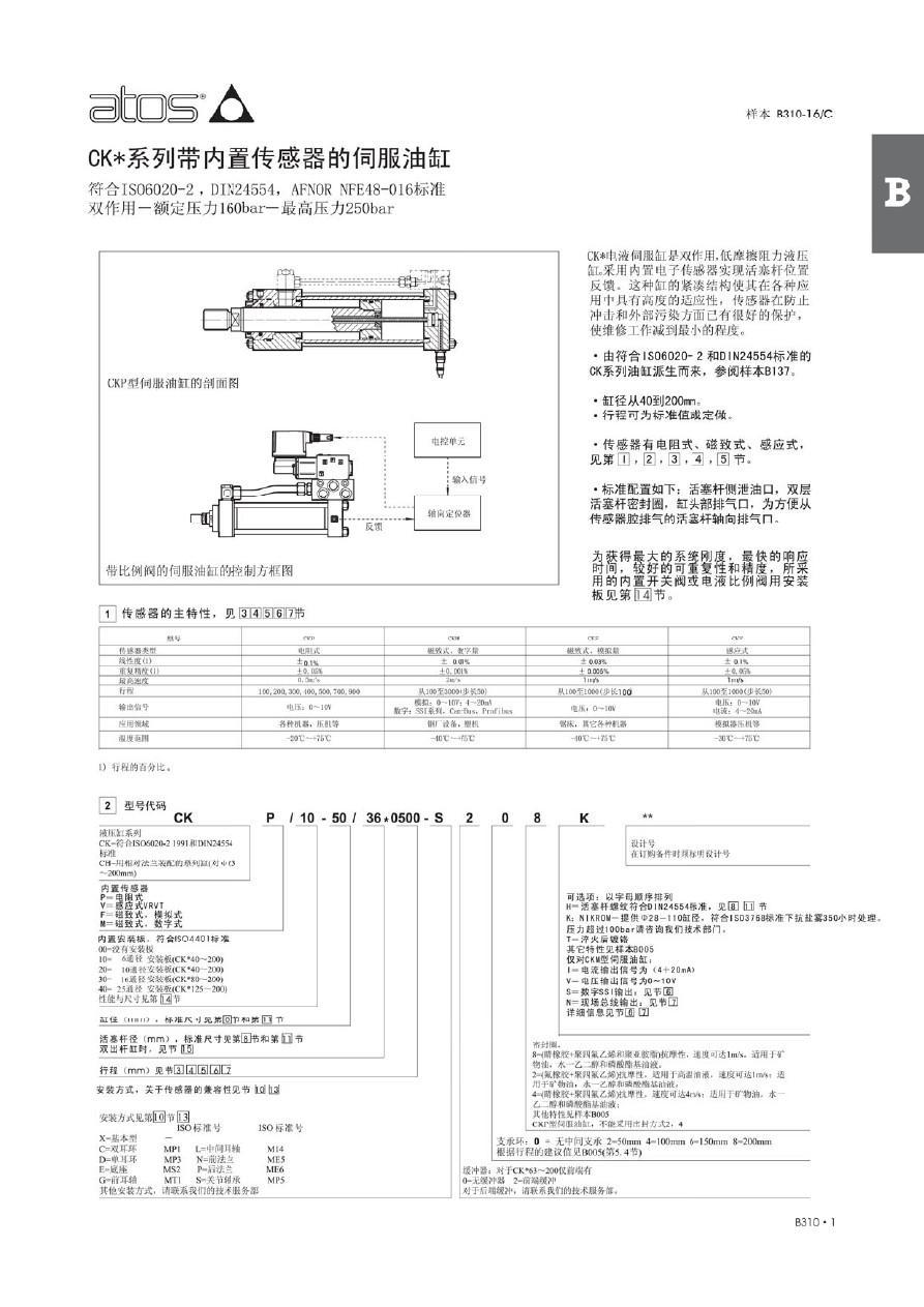 CK系列伺服油缸