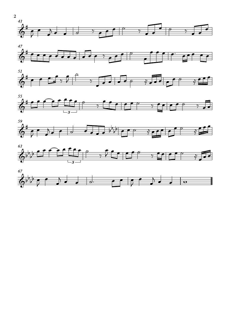 kiss the rain 小提琴谱图片