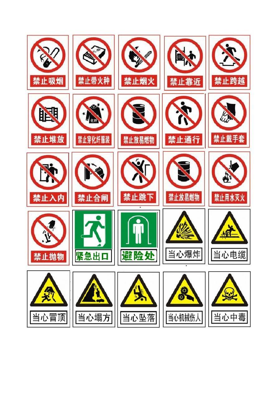 安全标志大全图片GB2894-2008 - 副本