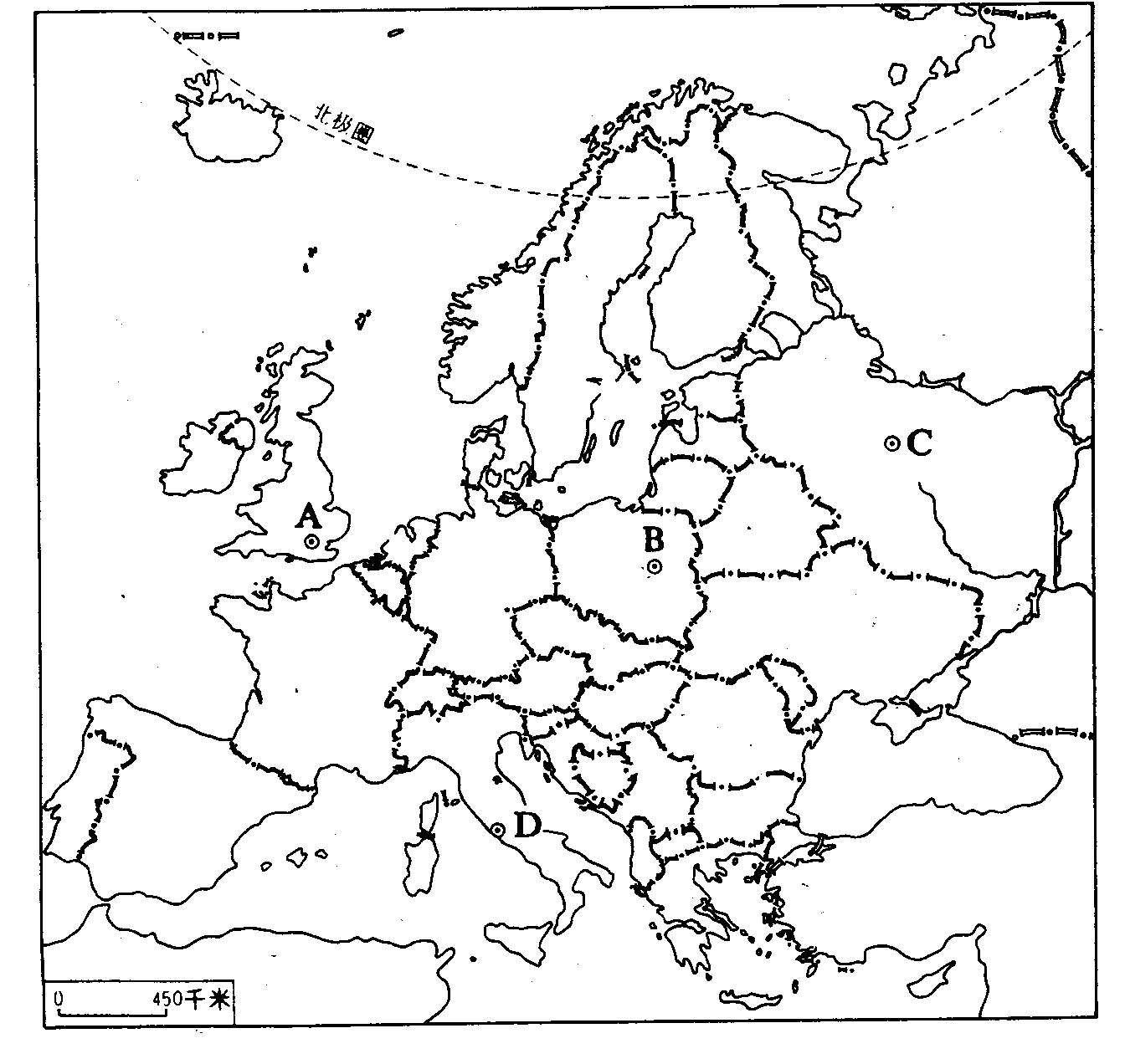 欧洲东部与北亚 拉丁美洲练习 中国电子 欧洲地形 世界空白地图 欧洲