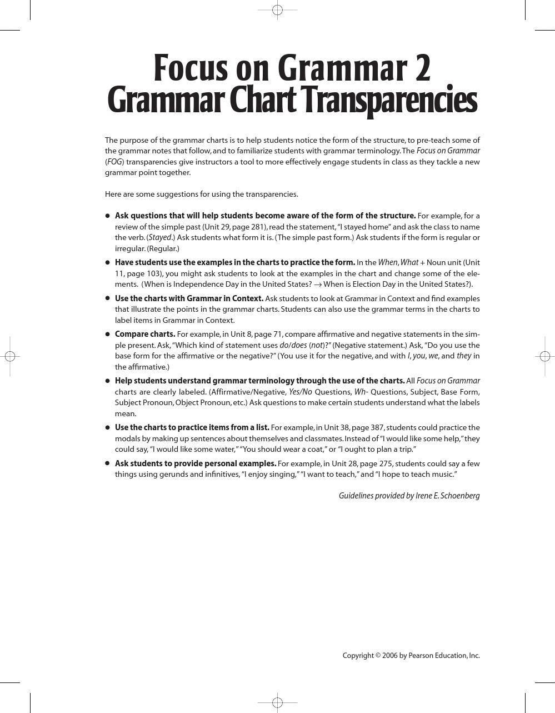 Grammar Chart