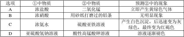 【全国百强校】山西省2017届高三上学期五校第一次联考 化学试题答案