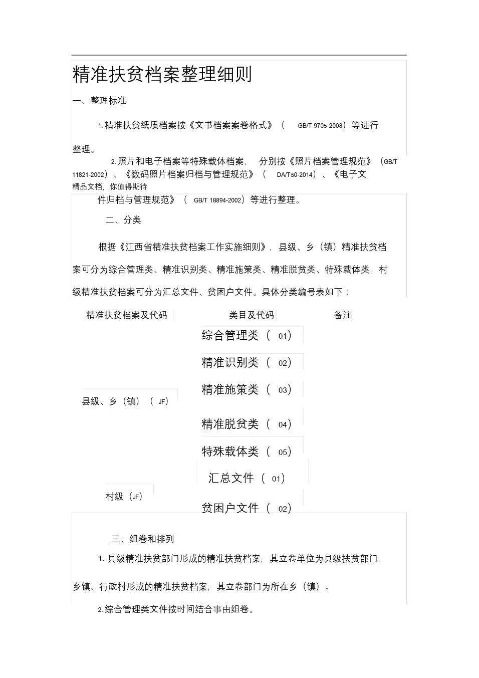 精准扶贫档案整理细则-精选-新版.doc