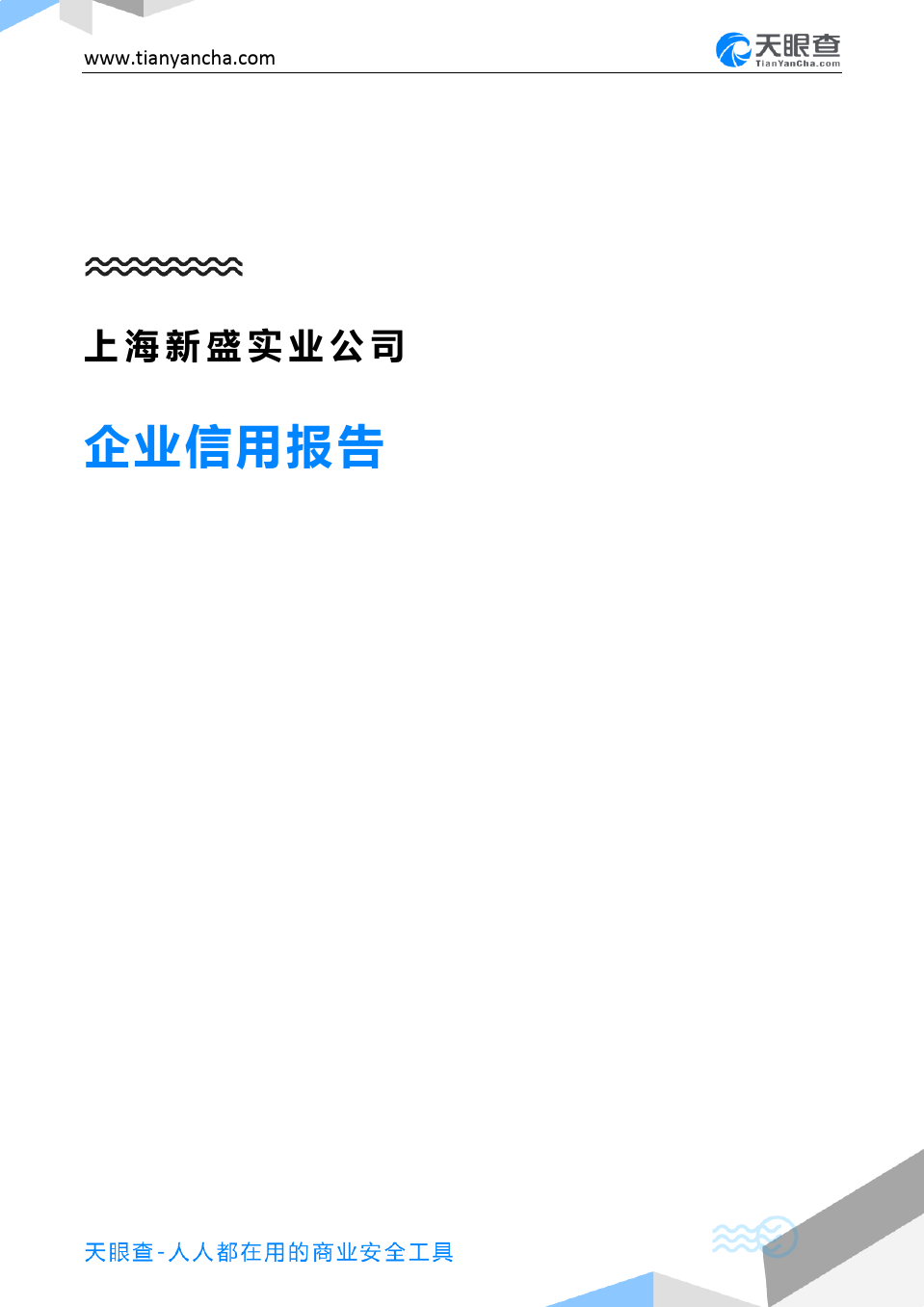 上海新盛实业公司企业信用报告-天眼查