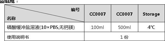 磷酸缓冲盐溶液(10×PBS,无钙镁)