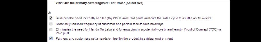 VMware第七课 VTSP-DV (2016) Digital Workspace, Desktop, & Application Virtualization题库