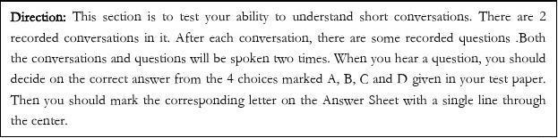 2013年12月全国英语A级试卷及答案