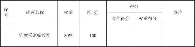 2012普通車工操作技能競賽試卷