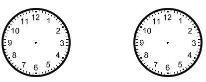 二,你能在钟表模型上画出这些时刻吗?图片
