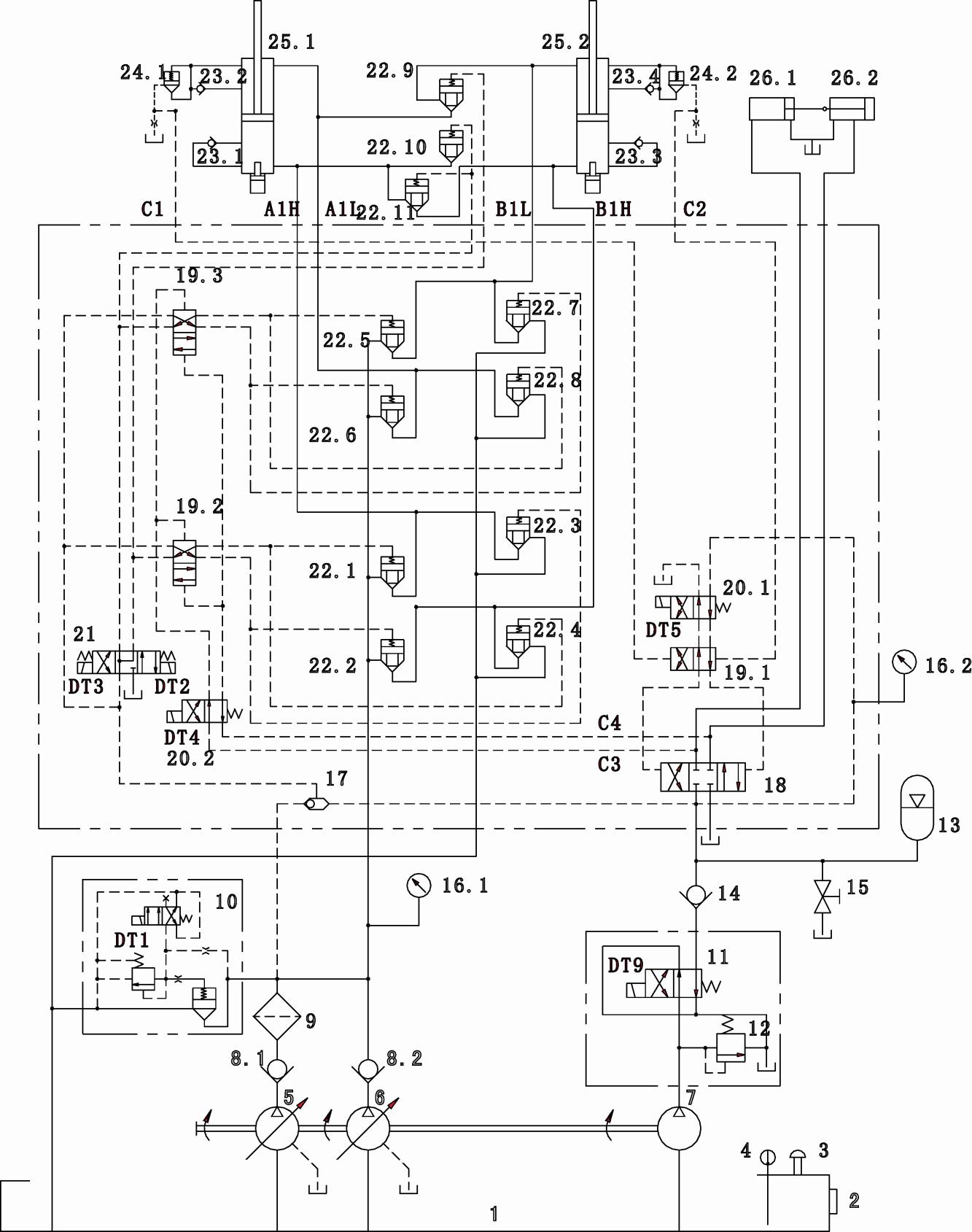 第1页 (共1页,当前第1页) 你可能喜欢 泵车液压系统 液压图解 力士乐图片