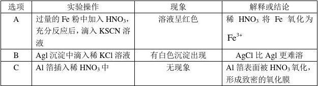 2011年高考化学(安徽卷)答案及解析
