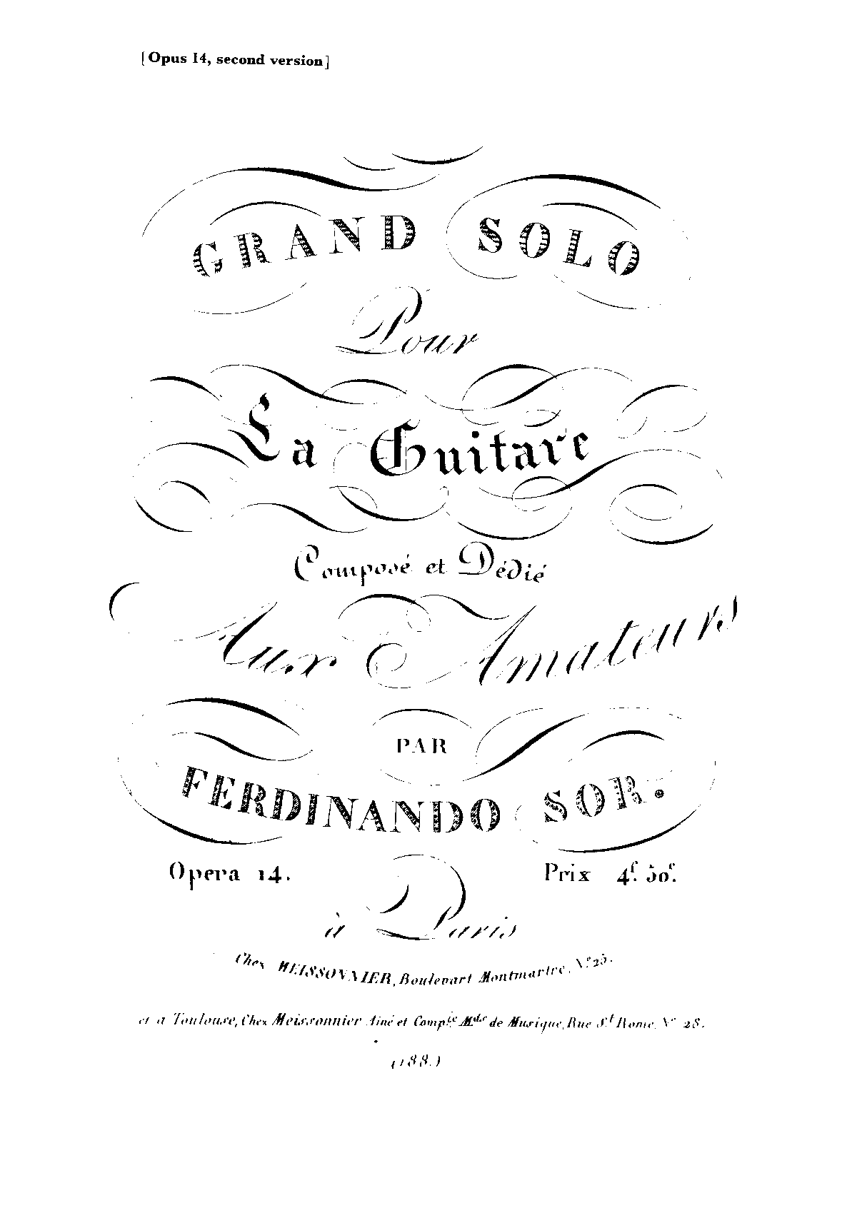 Fernando Sor:Grand Solo 索尔(伟大的独奏)(古典吉他曲谱)