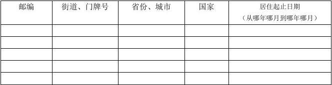 DS-260表所需中文信息