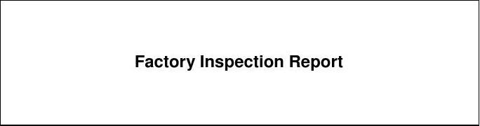 UL CIG-023 Factory Inspection Report_Chinese