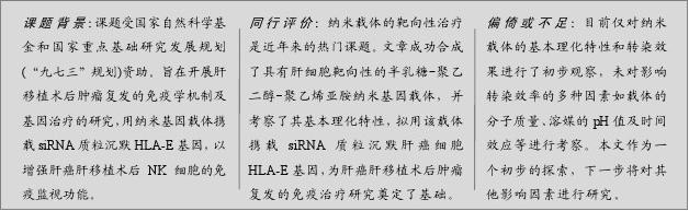 肝细胞靶向性半乳糖_聚乙二醇_聚乙烯亚胺纳米基因载体的合成及其理化特性
