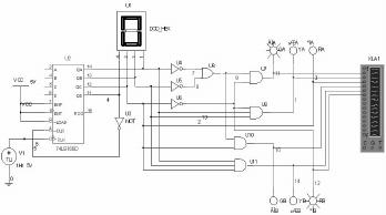 基于multisim的交通灯控制电路系统仿真设计图片