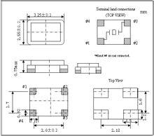 3225晶振技术参数和外部尺寸图