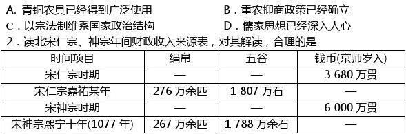 四川省资阳市2014届高三4月高考模拟考试文综历史试题