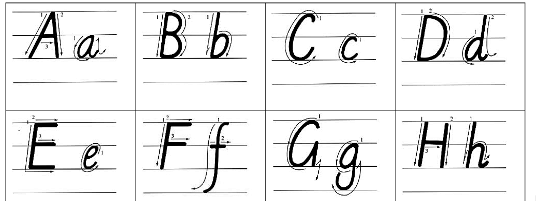 26个英文字母大小写(手写体)图片