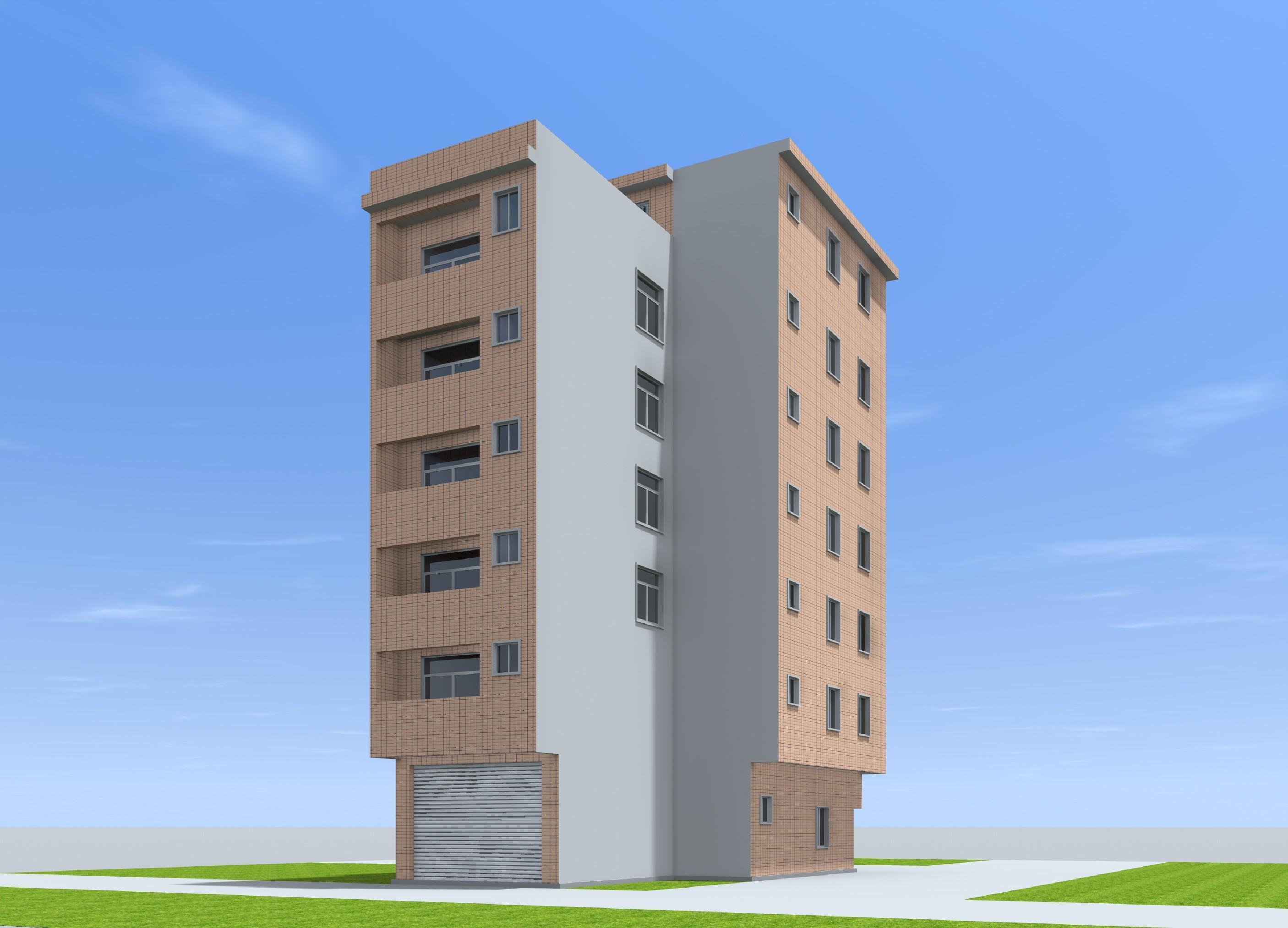 建图纸出租房自楼房设计图建房漫画建筑设计住房个人图片