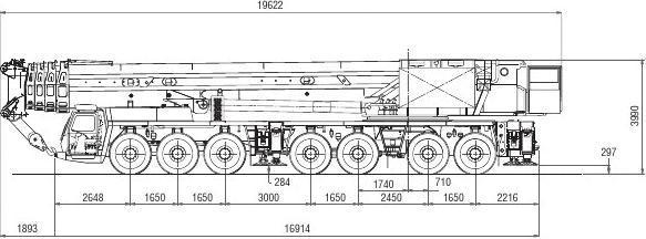 450吨汽车吊性能表 GMK7450