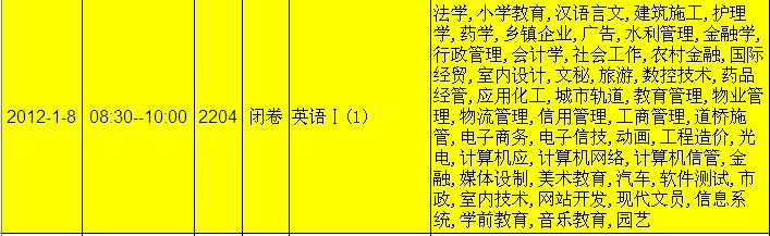 a期末考试时间安排 Microsoft Word 文档 (2)