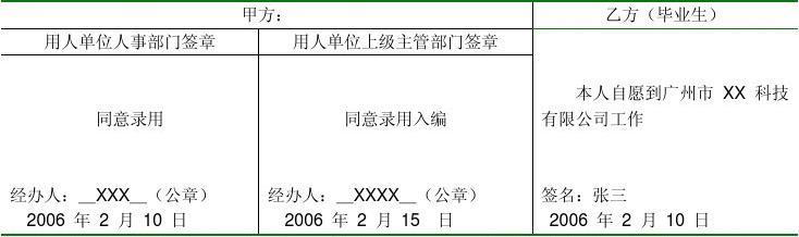 普通高校就业协议书_高校毕业生就业协议书填写范例_文档下载