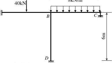 用位移法计算图示刚架,求出系数项及自由项