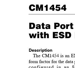 CM1454-08CP;中文规格书,Datasheet资料