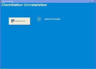 卸载和重新安装B版LC ChemStation