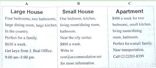 初中英语中考任务型阅读专项训练