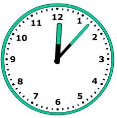 小学二年级钟表题(时针分针秒针)