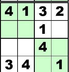 四宫格 儿童数独 练习60题