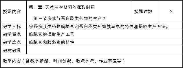 J-05 天然生物材料的提取制药 第三节 多肽和蛋白质类药物的生产(2)