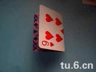 图解扑克牌做花瓶的方法