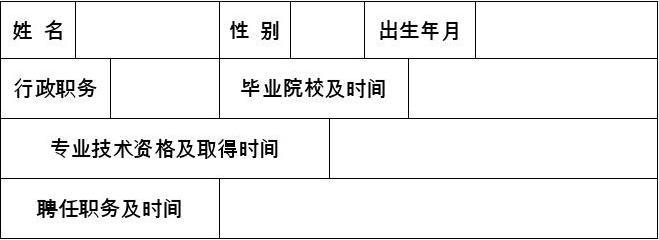 朝阳市专业技术人员考核评价表
