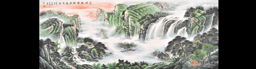 客厅沙发背景墙挂画 这几幅经典山水画可以选择