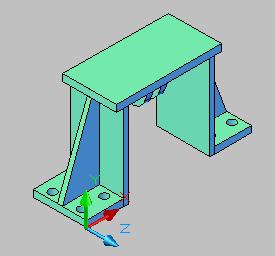 CAD二维命令转三维图纸cad2014v命令图纸