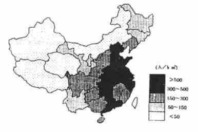 中国地理三大阶梯图_中国人口的地域分布及成因分析_word文档在线阅读与下载_无忧文档