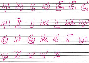 英文字母规范书写图片