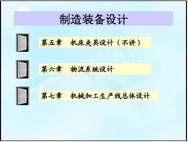 第1章 机械制造装备设计方法