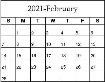 2021年日历(A4表格免费下载,可编辑、打印)