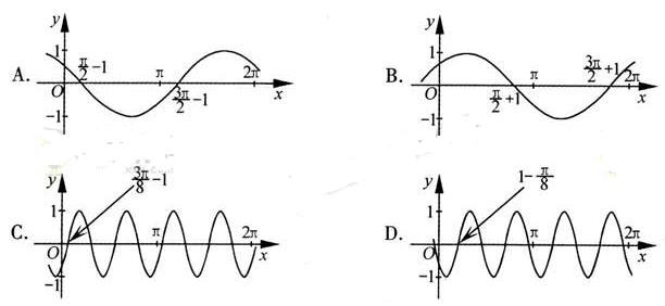 浙江卷理科第4题 把函数y cos2x 1的图像上所有点的横坐标