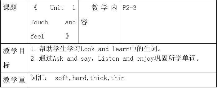 李启云四年级下册英语课1-2课时教案