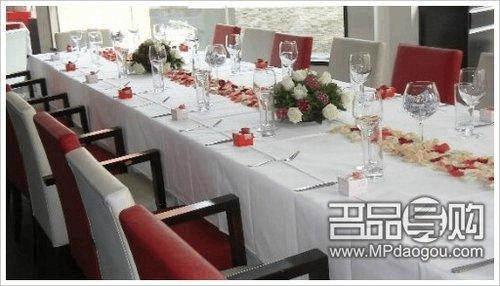 西餐自助餐餐桌摆台标准图片