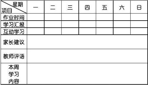 学生学习情况记录表(完整)