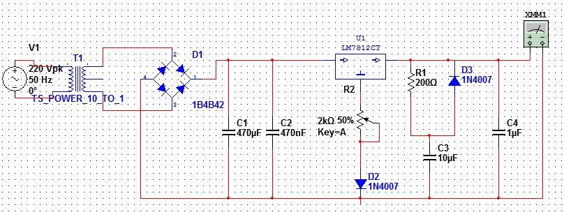 模电课程设计--可调直流稳压电源_word装修设计完整施工图图片
