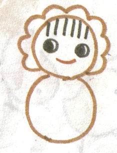儿童水彩笔画教程25画布娃娃.docuuuu