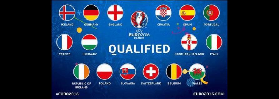 2016年欧洲杯16强对阵一览