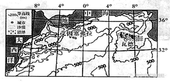 福建省三明市第一中学2018届高三上学期地理(文)小测9